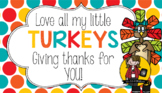 Turkeys / Thanksgiving Tag