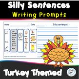 Turkeys Themed - Silly Sentences - Writing Word Banks/Warm-ups