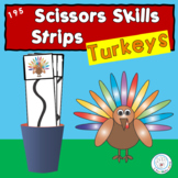 Turkeys Themed Vertical Scissors Strips