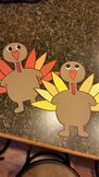 Thanksgiving Turkeys: Tom Turkey Project (20 turkeys)