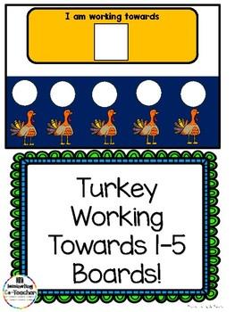 Turkeys Working Towards 1-5 Visual Reinforcement Board