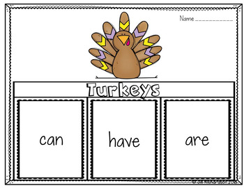 Turkeys Writing Flap Books!