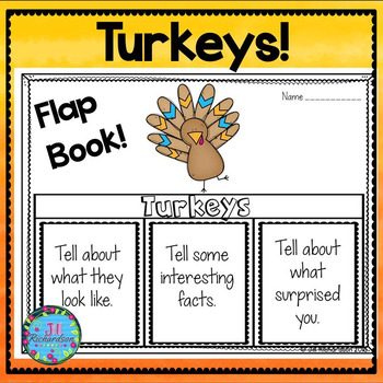 Turkeys Writing Flap Books!