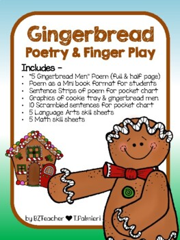 Turkeys and Gingerbread Poetry Pack-Thanksgiving Pack