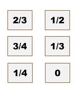 Turkeys and Pie Fraction File Folder Match