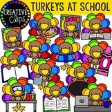 Turkeys at School {Creative Clips Clipart}