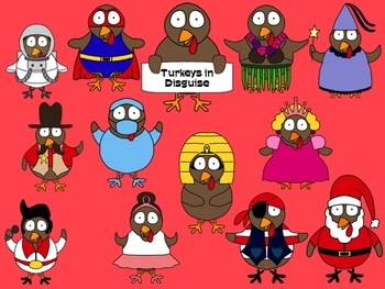 Turkeys in Disguise Clip Art Collection