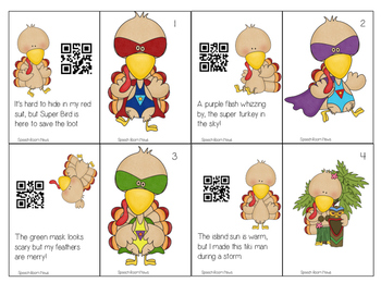 Turkeys in Disguise: Inferencing Speech Therapy Activity  with QR codes optional