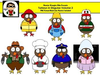 Turkeys in Disguise Volume 2 Clip Art Set