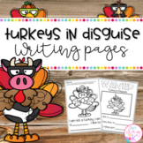 Turkeys in Disguise Writing Pages