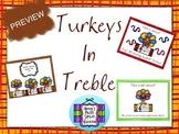 Turkeys in Treble - Review the Treble Clef BUNDLE
