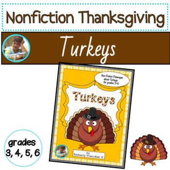 Turkeys: non-fiction passages and printables