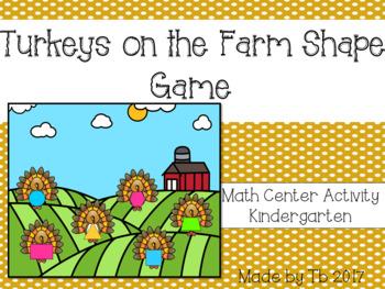Turkeys on the Farm Shape Game