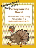 Turkeys on the Move! Sample Song