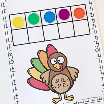 Turkeys to 10 Just Right Counting Centers & Activities