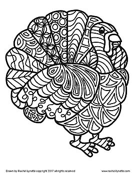 Turkeys to Color! Great for Thanksgiving or Anytime in Autumn! FREE
