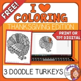 Turkeys to Color! Great for Thanksgiving or Anytime in Aut