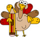 Turkeys with a Pencil Clip Art
