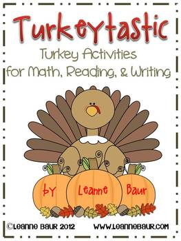Turkeytastic Activities for Math, Writing, and Reading