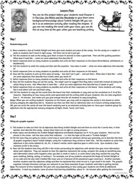 Turkish Delight Descriptive Writing and Podcast Project