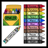 Crayons Colors in Turkish (180 IMAGES)