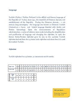Turkish Lessons -  Language and Alphabet