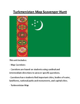 Turkmenistan Map Scavenger Hunt