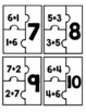 Turn Around Fact (Commutative Property) Addition Puzzles for Math Center