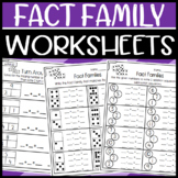 Turn Around Fact and Fact Family Worksheets