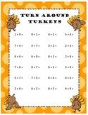 Turn Around Facts Addition Turkeys Thanksgiving Worksheet