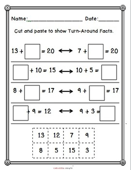 Common Core Aligned!  Turn-Around Facts Cut and Paste Packet