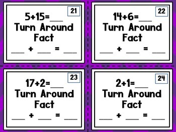 Addition Turn Around Facts Scoot Game {CC Aligned}