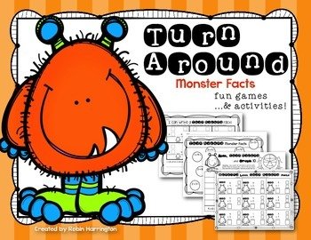 Turn Around {Monster} Facts - First Grade Math Addition Strategy