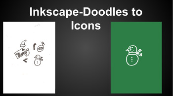 Turn Doodles into Icons, Clip Art, and PNG Images with Inkscape. Great for TPT!