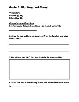 Turn Homeward, Hannalee Student Question Packet