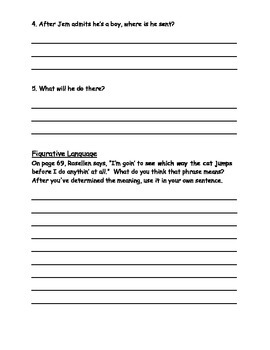 Turn Homeward, Hannalee Student Question Packet