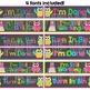 Turn In Bin Drawer Labels - Neon Brights Chalkboard Owls