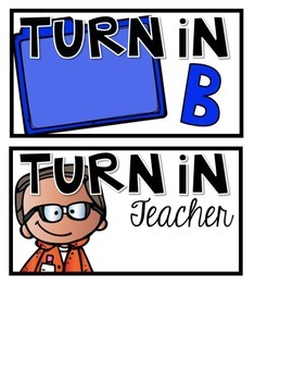Turn In Station Visual Prompt Cards