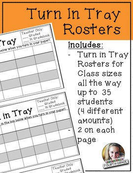 Turn In Tray Rosters
