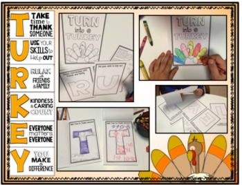 Turn Into A Turkey!  Posters Set & Activities for Giving Thanks and Giving Back