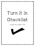 Turn It In Checklist