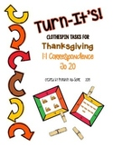 Turn-It's: Thanksgiving Themed Clothespin Task for 1:1 Cor