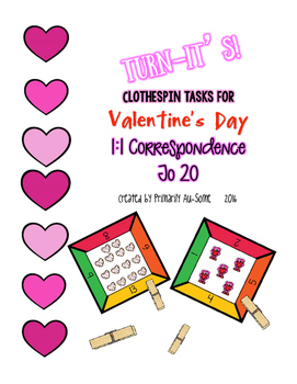 Turn-It's: Valentine's Day Themed Clothespin Task for 1:1 Correspondence
