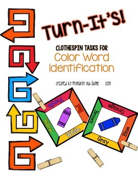 Turn-It's: Clothespin Task Cards for Color Words