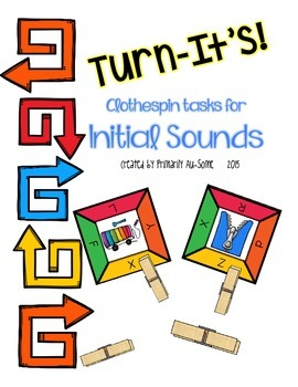 Turn-It's: Clothespin Task Cards for Initial Sounds