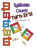 Turn-It's: Clothespin Task Cards for Syllable Count