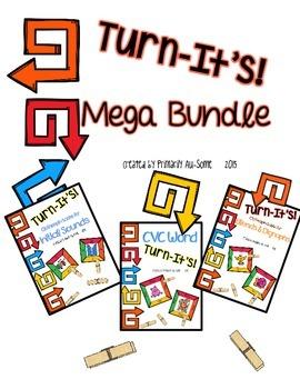Turn-It's: Mega Bundle {Clothespin Task Cards for Phonics}