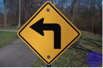 Turn Left Sign Stock Photo