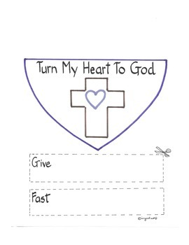 Turn My Heart to God Lent Project