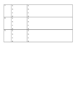 Turn Open Response Questions into Multiple Choice Questions